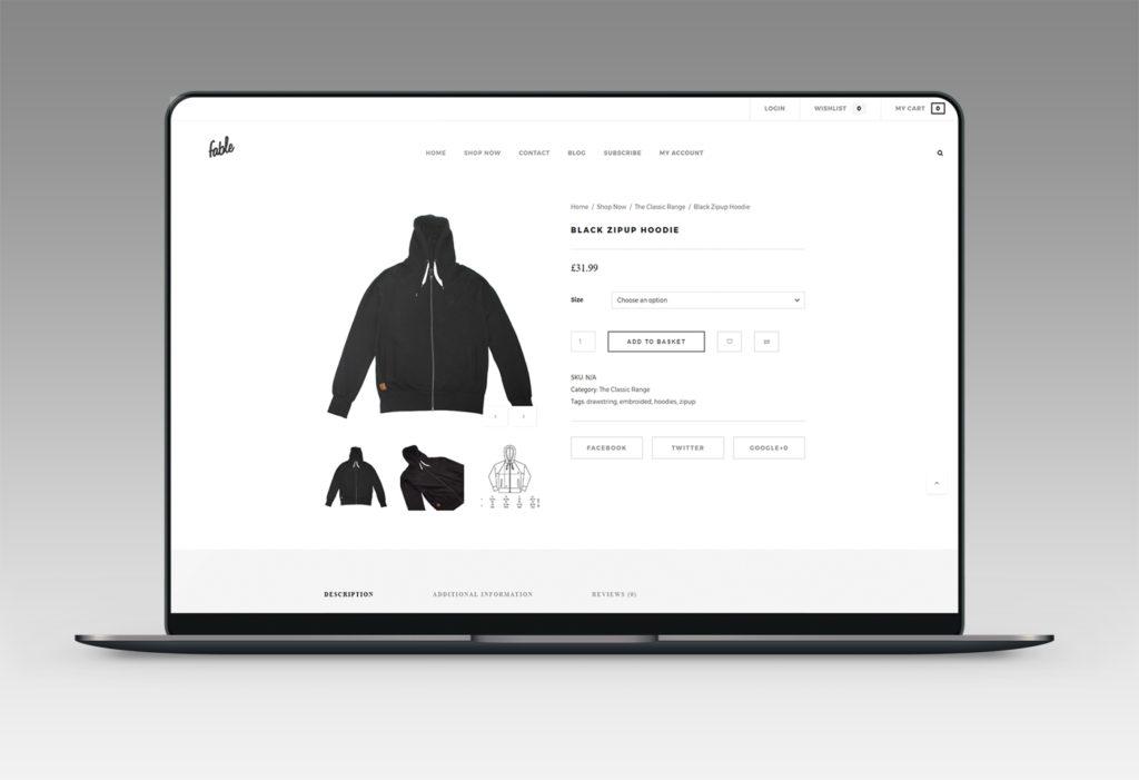 Fable Clothing Web Design & eCommerce