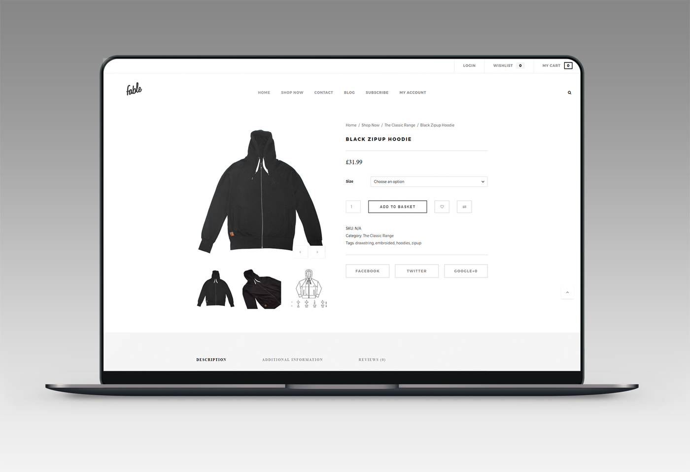Fable Clothing Web Design & eCommerce