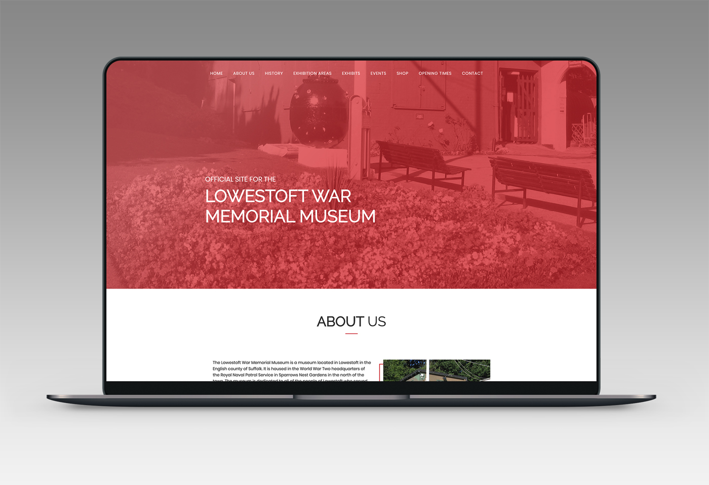 Lowestoft War Memorial Museum Web Design