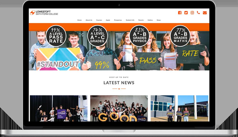College Website Design Mockup